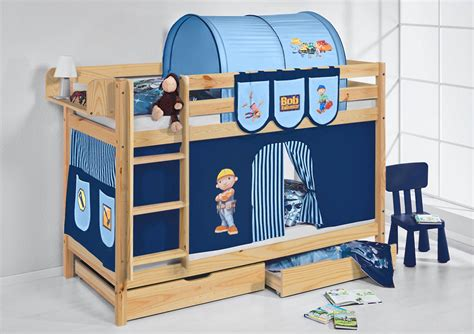 childrens bunk beds ebay childrens bunk bed jelle nature with curtain by lilokids