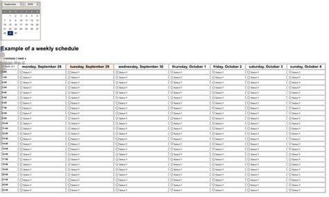 easy weekly calendar show calendar    week php classes