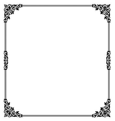 design frame vector scroll border vector on vectorstock 174 fun frames and