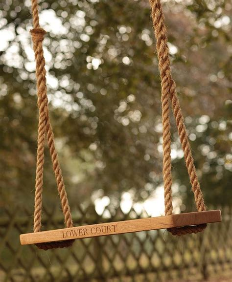 garden rope swing personalised oak garden tree swing by the oak rope