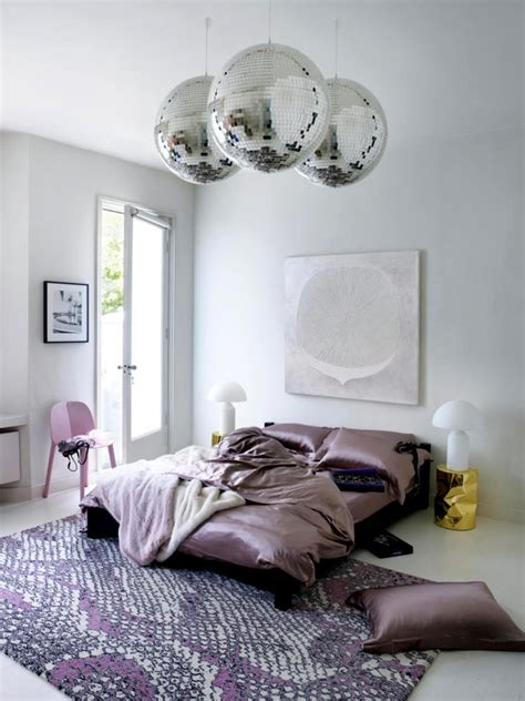 bedroom disco ball satin disco balls and pink print interior design ideas