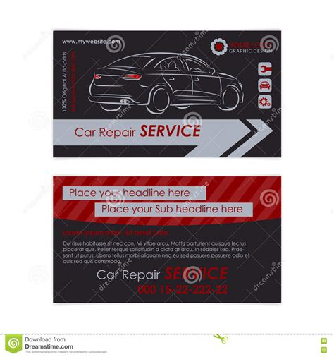automotive workshop card template auto shop business cards business cards ml 4be419b970ae