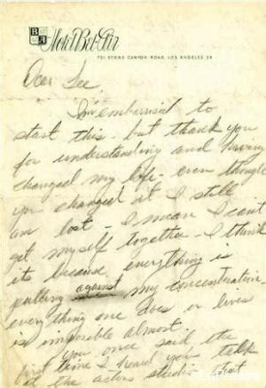 lettere di suicidio marilyn all asta la lettera suicidio paperblog