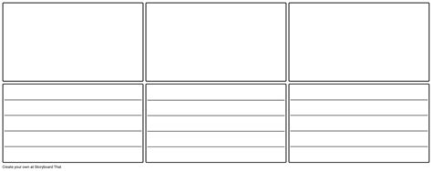 blank storyboard template with lines storyboard