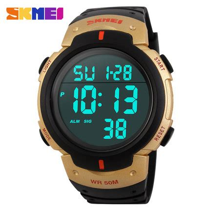Skmei Watches Top Brand Luxury Gold Waterproo Limited 1 skmei luxury brand mens sports watches dive 50m digital led fashion casual