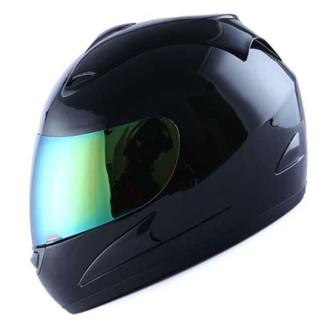 Helm Jpr Solid Black Glossy Visor new motorcycle helmet glossy solid black two visors tinted clear ebay