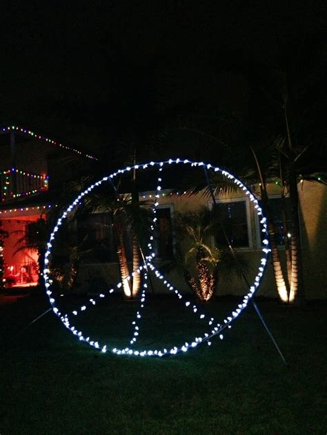 Peace Sign Christmas Lights San Diego Christmas Lights