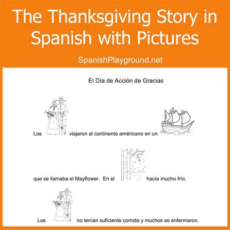 thanksgiving coloring page in spanish spanish thanksgiving printable kids read pictures to