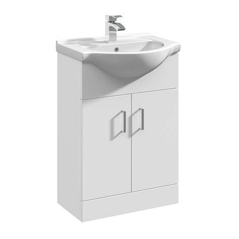 Basin Sink Vanity by Veebath Linx White Bathroom Vanity Unit Basin Sink 550 Compact Cloakroom Cabinet Ebay