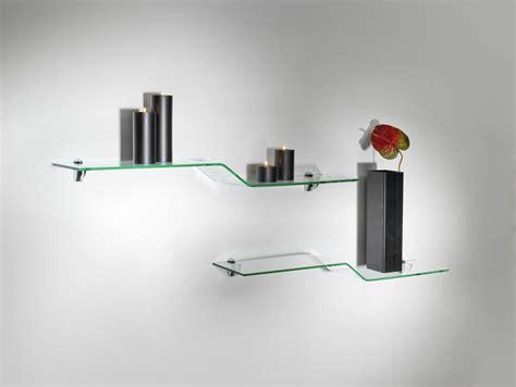 mensole strane mensole in vetro curvato soluzioni di design per la tua