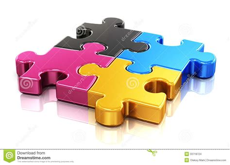 cmyk puzzle cmyk puzzle stock illustration image of logotype