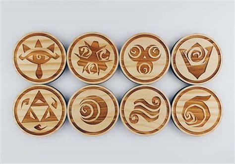 The Handmade Wooden Coaster Set Boasts Those Iconic Zelda Symbols   Gadgetsin