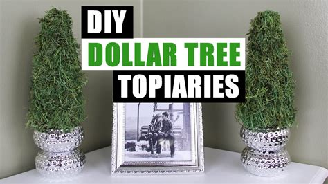 diy dollar tree topiaries dollar store diy