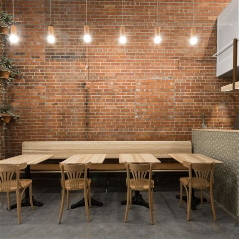 cafe design concepts furniture lebanese snack bar and bakery in montreal features an
