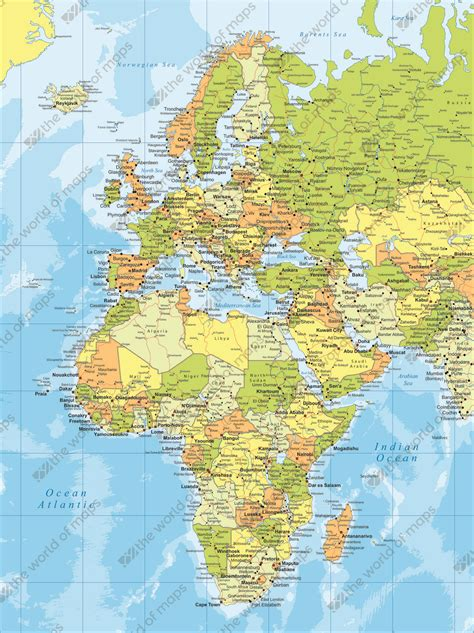 map of europe and middle east digital map europe middle east and africa 781 the world