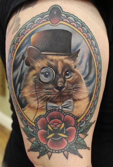 tattoo animal portraits cameo style pet portrait tattoo animal tattoos
