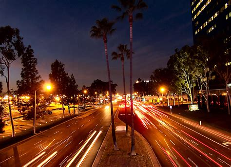 California Night Lights View From The Unity Bridge A California Lights
