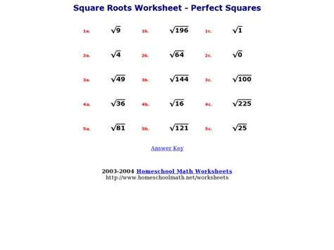 Squares And Square Roots Worksheets by Math Worksheets Square Roots 8th Grade Math Worksheets