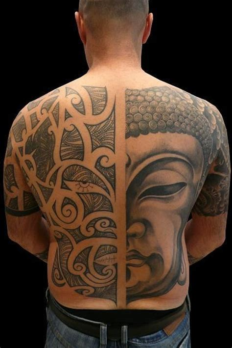 faccia maori buddha 2009 full back tattoos pinterest