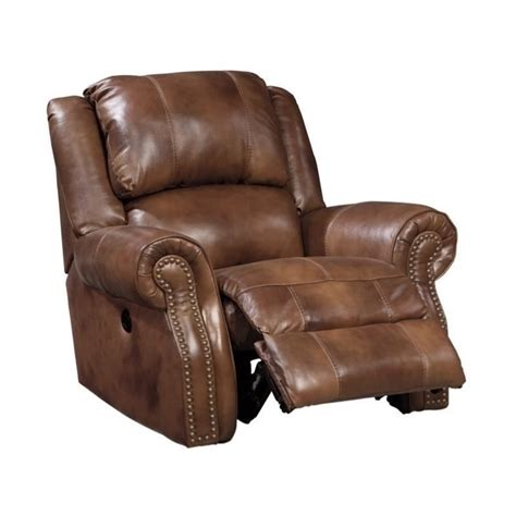 ashley leather recliners ashley walworth leather power rocker recliner in auburn