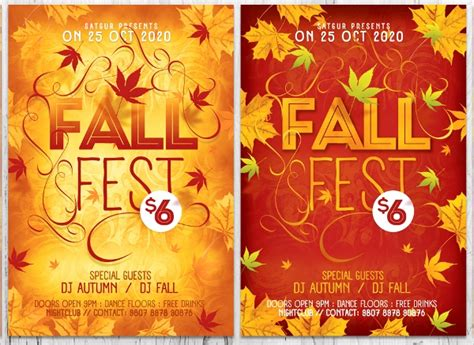 21 Fall Flyer Templates Sle Templates Fall Flyer Template