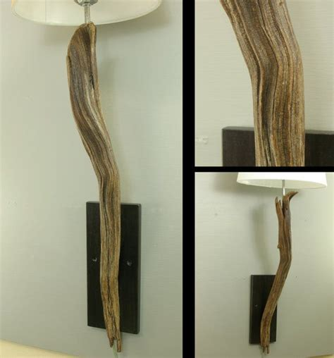 Driftwood Wall Sconce Gorgeous Sculpted Driftwood Wall Sconce Wall Mounted Modern Rustic L With Stained Wood