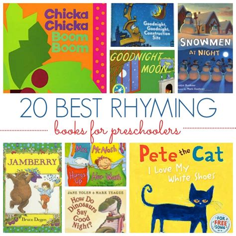 picture books for kindergarten best rhyming books for preschoolers pre k pages