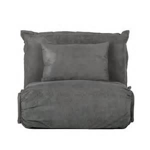 sessel matratze schlafsessel webstoff grau schlafcouch schlafsofa