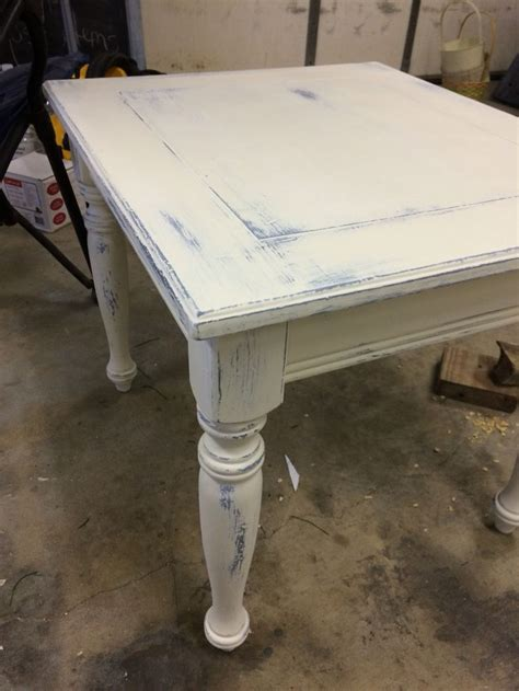 dark blue   white distressed  table distressed