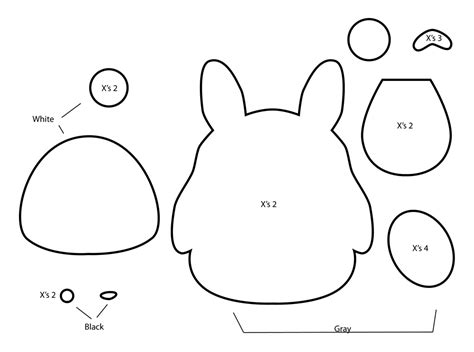 felt templates how to make a totoro plushie from felt