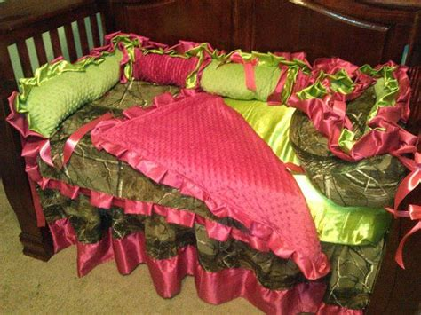 hot pink and lime green comforter sets personalized baby girl camo lime green and hot pink