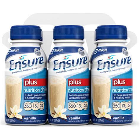 supplement drinks ensure original therapeutic nutrition