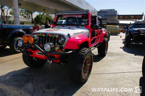 Pink Four Door Jeep 2013 Sema Dalto White Pink 4 Door Jeep Jk Wrangler