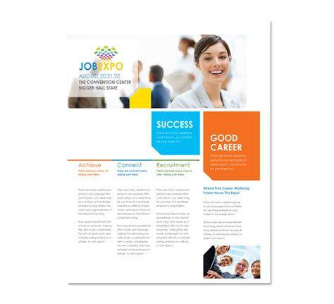career brochure template career fair flyer template