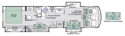 thor rv floor plans thor class a motorhomes rv models specifications photo gallery