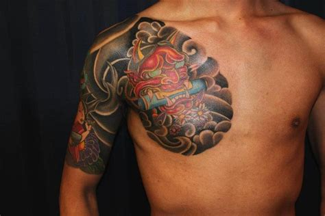 oriental tattoo mask japanese hanya mask tattoo by chen zu ray tattoonow