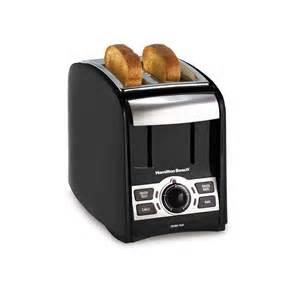 Black Silver Toaster Hamilton Smarttoast 2 Slice Toaster Black Silver