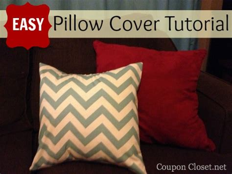 Pillow Cover Tutorial by Easy Envelope Pillow Cover Tutorial Coupon Closet
