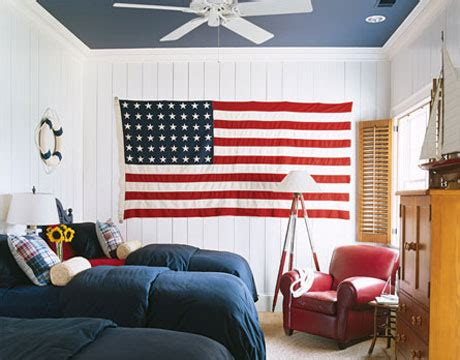 red white and blue bedroom vignette design decorating with red white and blue
