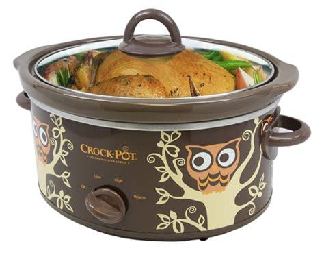 Think Cook Cook Ornamen Owl cook all with the owl crock pot cooker beyond