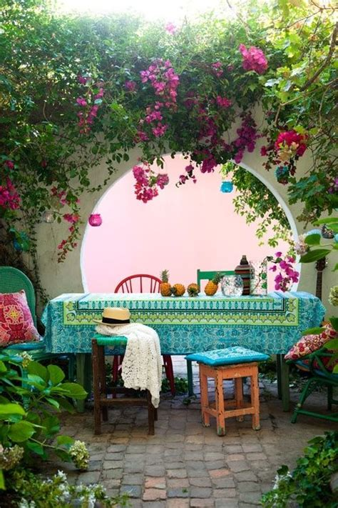 Beautiful Garden Patio Designs 37 Beautiful Bohemian Patio Designs Digsdigs