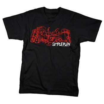 Simple Plan Tshirt simple plan stage on black t shirts official merch powered by merch direct