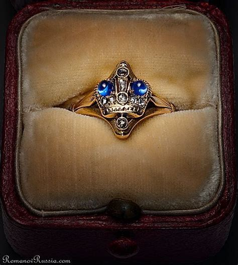 antique russian imperial crown ring c 1900 gold