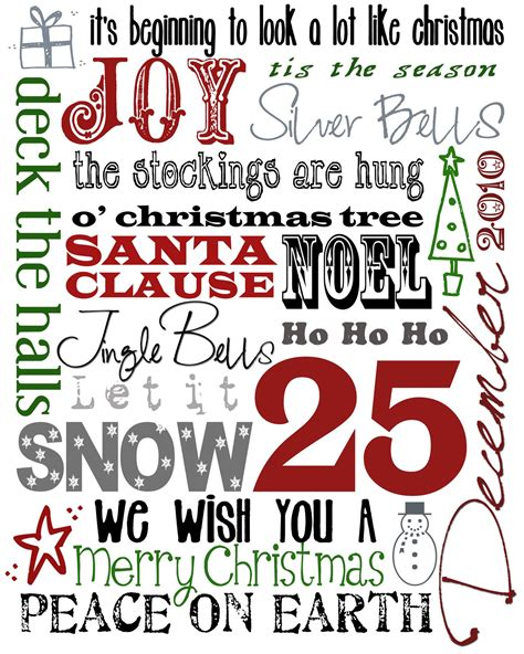 printable christmas fonts upcycled education subway art free printable