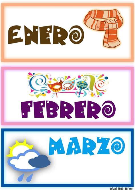 Calendario Con Todos Los Meses Los Meses A 241 O Enero Febrero Y Marzo Cuentacuentos