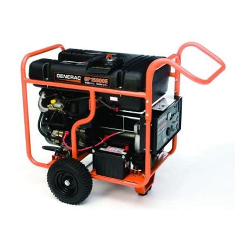 generac 15 000 watt gasoline powered portable generator