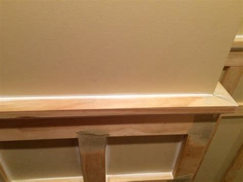 Wainscoting Top Rail How To Install Board And Batten Wainscoting White Painted