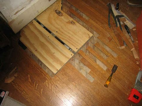 Repair Hardwood Floor Fix Cracked Concrete Front Porch