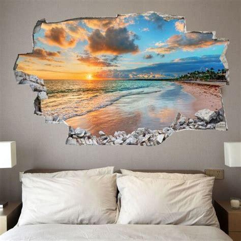3d wandtattoo schlafzimmer adesivo da muro 3d in vinile con tramonto saldi su