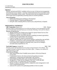 customer service rep sle resume sle resume for financial service representative